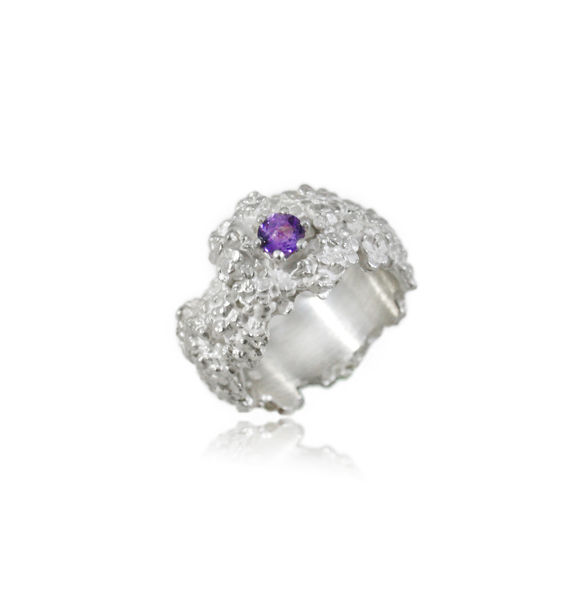 Amaranth Ring Silver with stone - product images  of