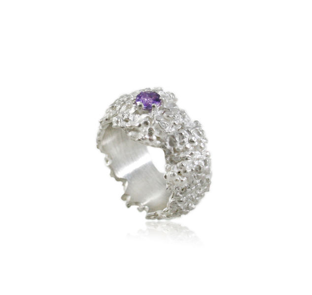 Amaranth Ring Silver (different stones to choose) - product images  of