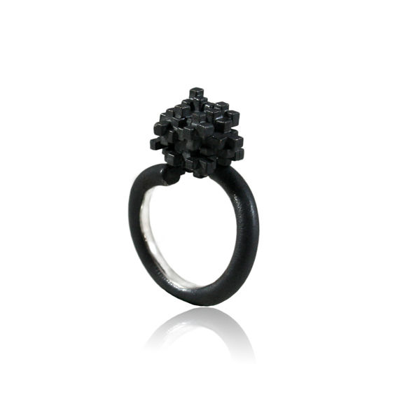 Tetris tall Ring Black - product images  of