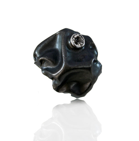 Gniot Ring Black with topaz - product images  of