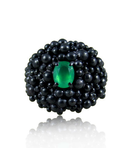 Big,Molecular,Ring,with,Emerald,Big ring, molecular ring, organic ring, atom ring, huge ring, big stone ring, natural ring, nature ring