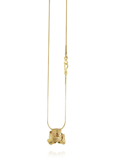 Algae Necklace Gold - product images  of