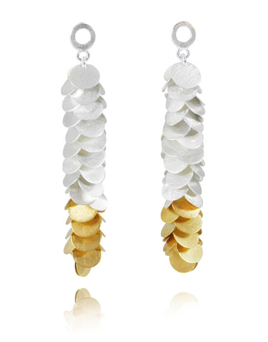 Petals Long Earrings Gold / Silver - product image