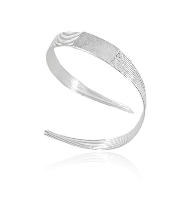 Grass open bracelet Silver - product images  of