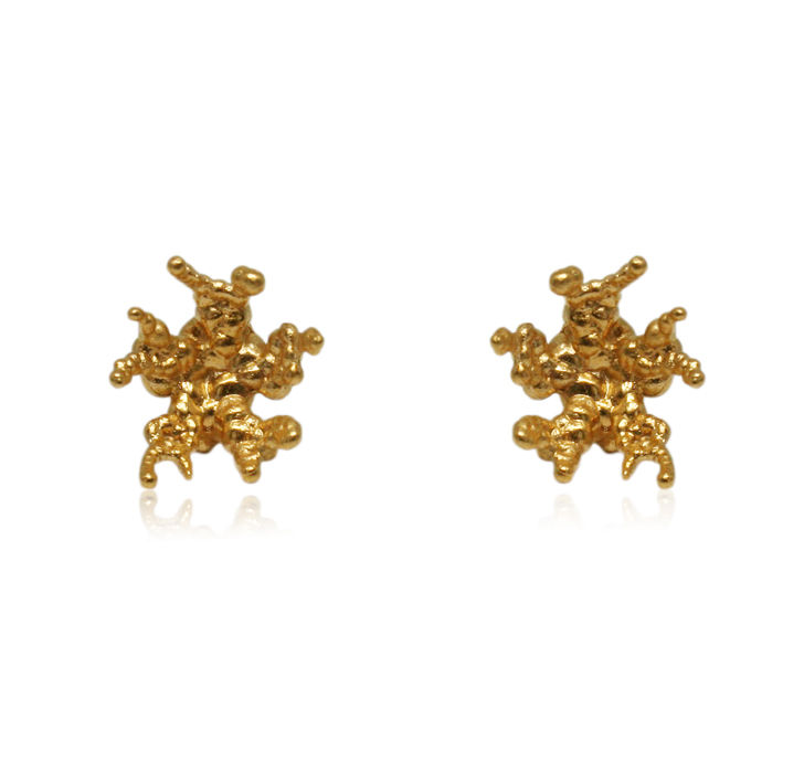 Coral reef earrings Gold  - product images  of