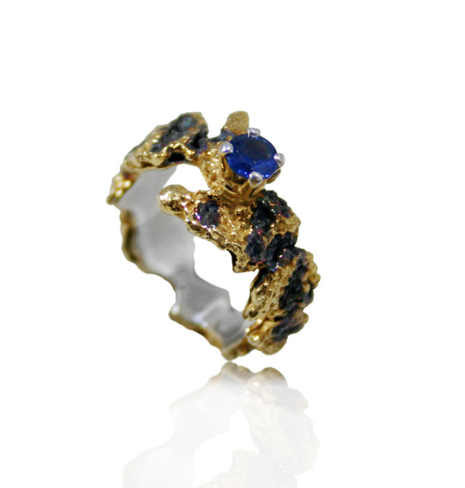 Out of the Sea Ring with sapphire - product images  of