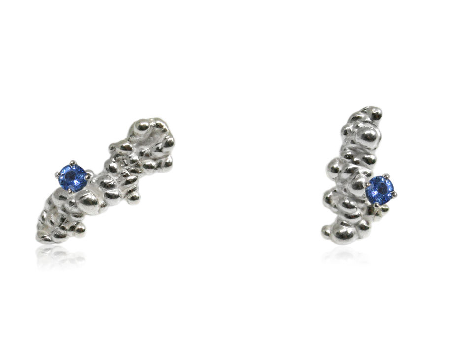Mammatus Earrings Silver with Sapphire - product images  of