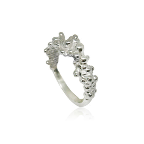 Mammatus,ring,Silver,cloud ring, silver ring, delicate ring, subtle ring,