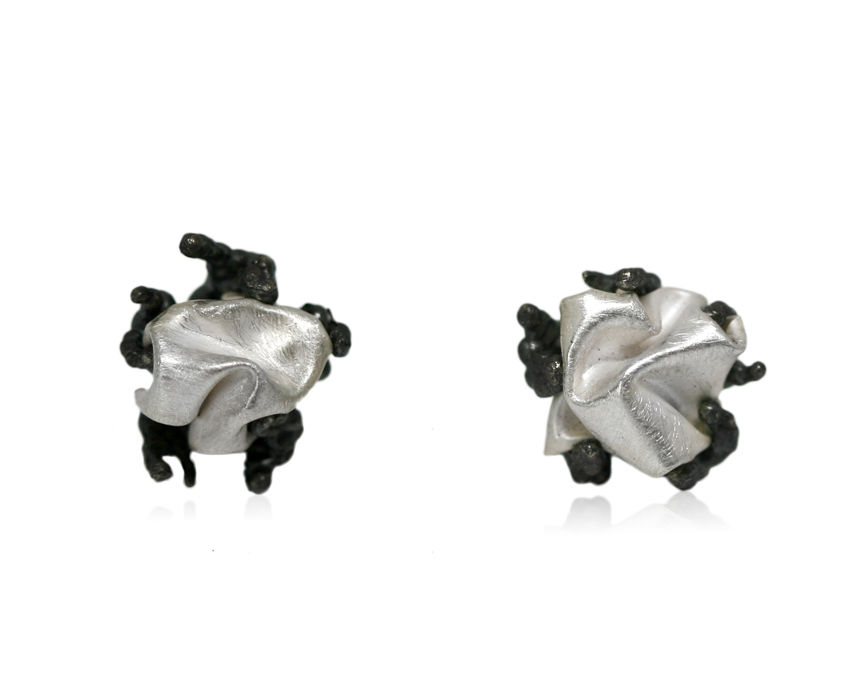 Naphta Earrings Black & Silver - product images  of
