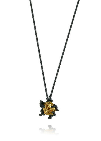 Naphta,Necklace,Black,&,Gold,stud necklace, silver necklace, black necklace, naphta necklace, gold necklace