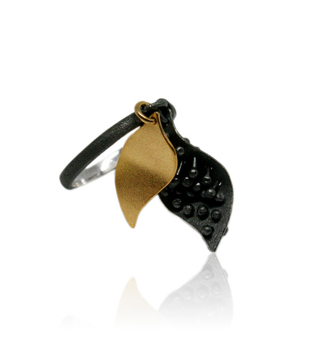 Mariposa Double Ring Black & Gold - product images  of