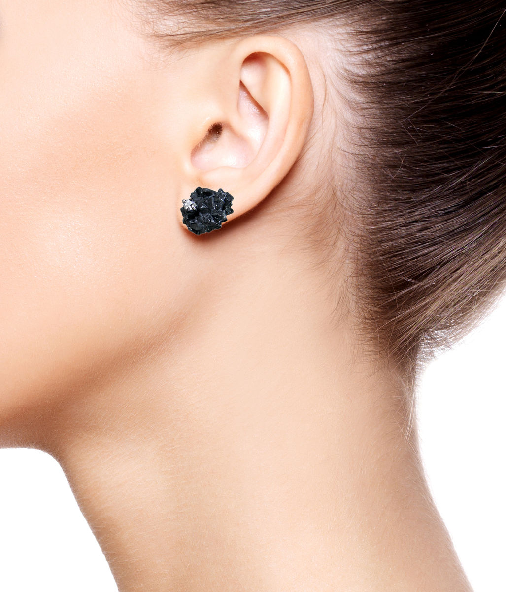 Mordor earrings Black with Topaz - product images  of