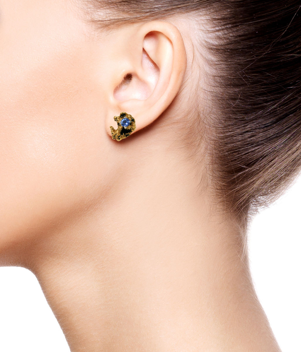 Out of the Sea Earrings with Sapphire - product images  of
