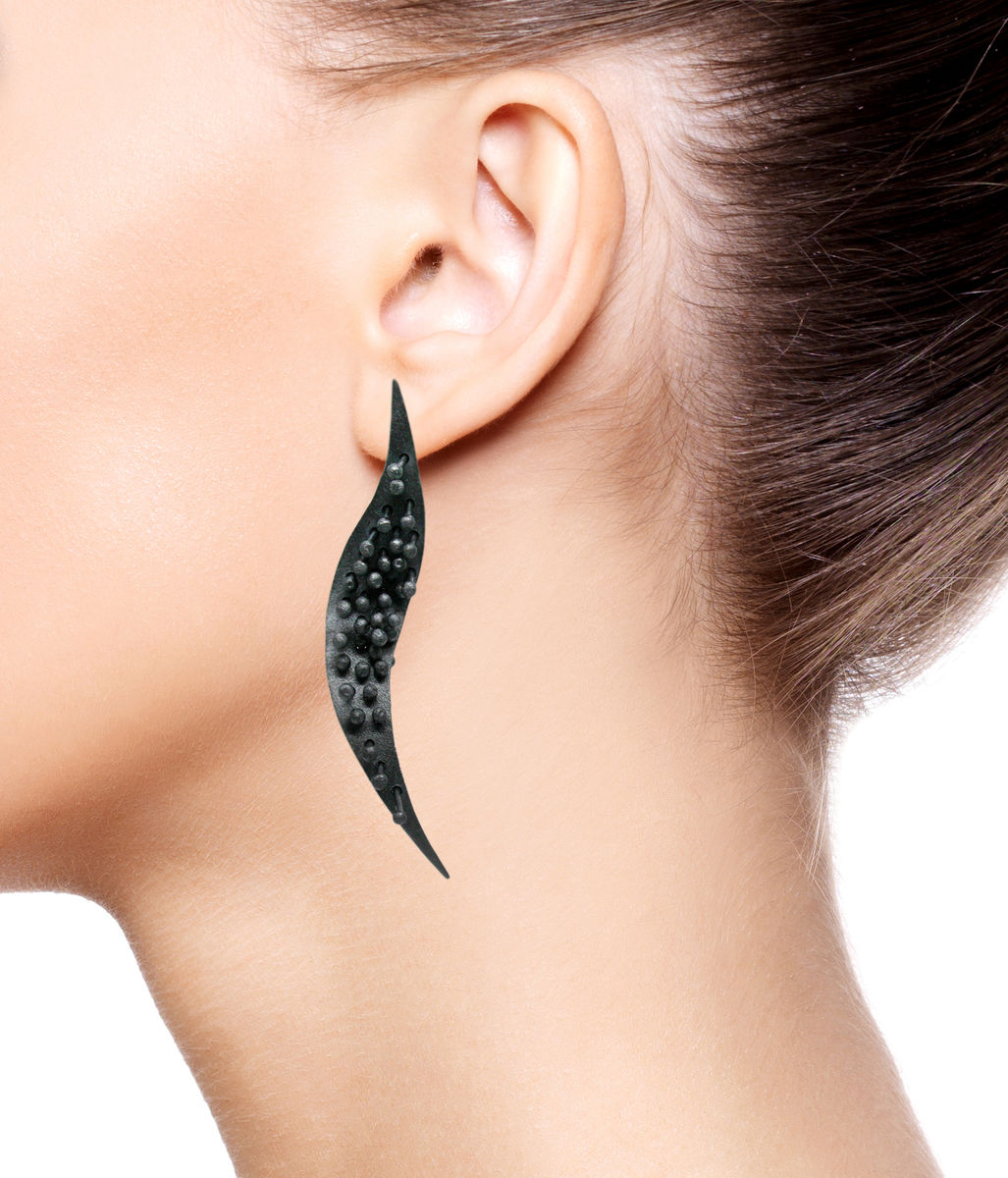 Mariposa Long Earrings Black  - product images  of