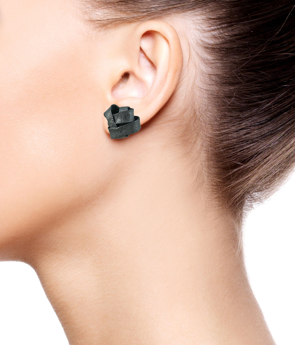 Algae Earrings Black - product images  of