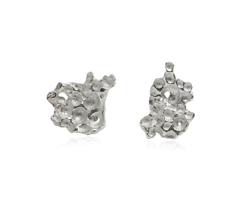 Pome Earrings Silver - product images  of