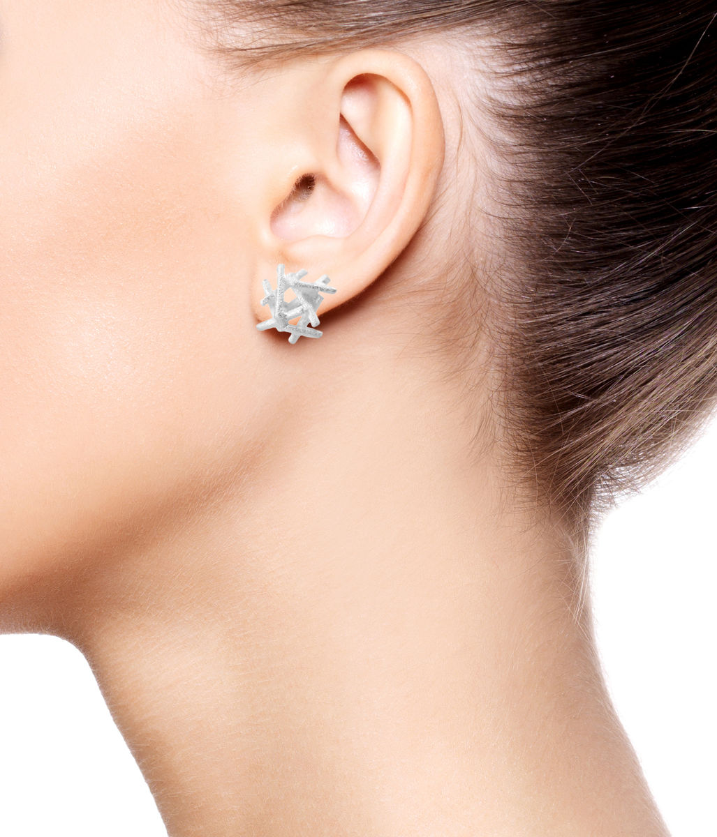 Nest  Earrings Silver - product images  of