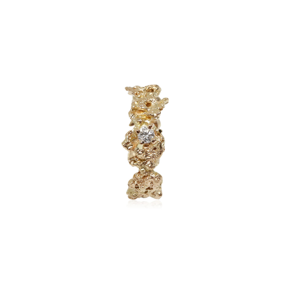 Out of the Sea Ring in 14k gold with 0,11 carat diamond - product images  of