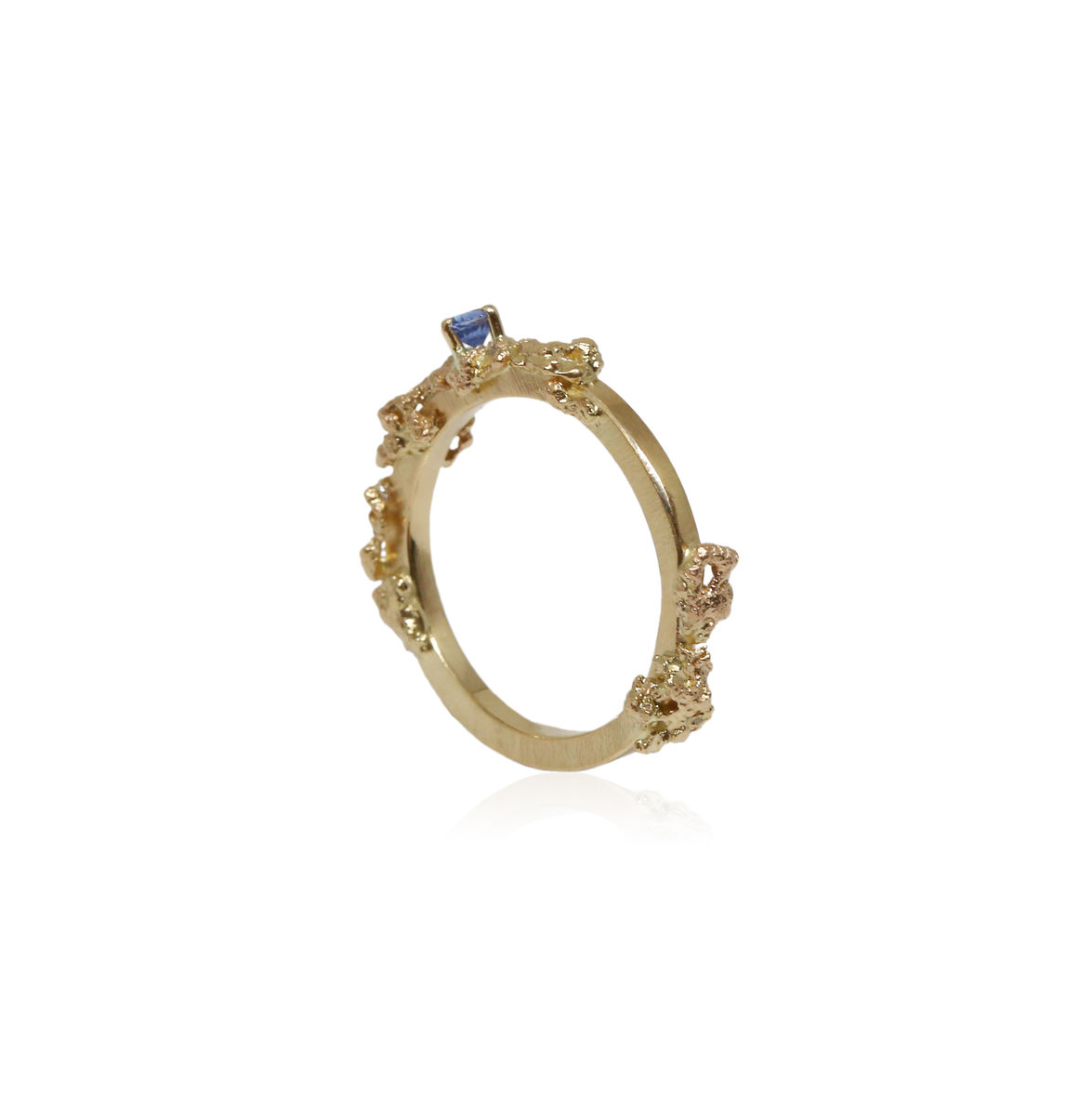 Out of the Sea Growth Ring in 14k gold with sapphire - product images  of