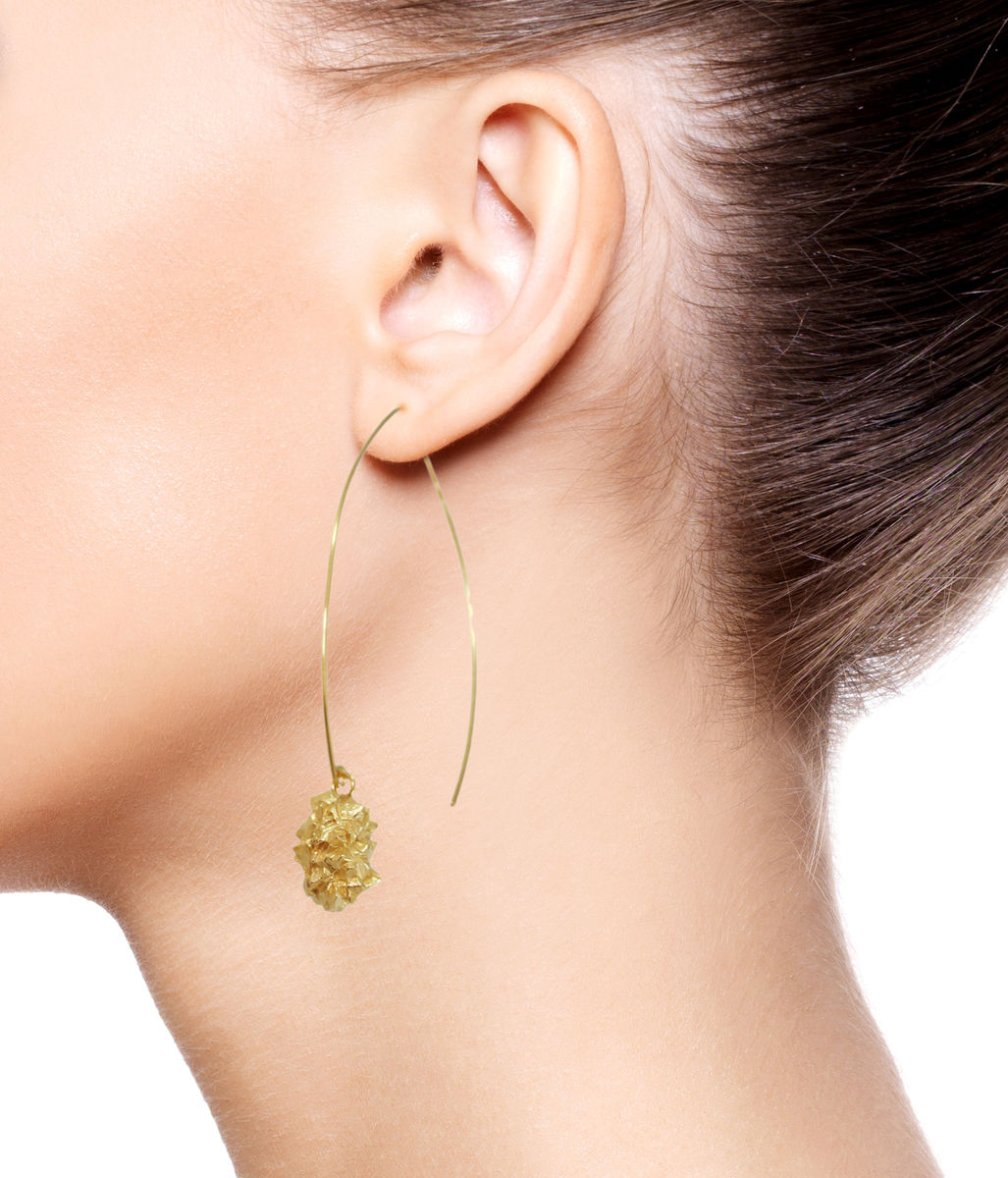 Mordor Long earrings Gold  - product images  of