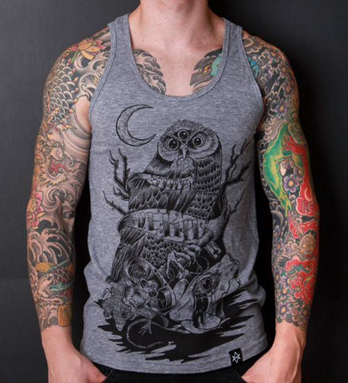 Predator and Prey gray tank - product images  of