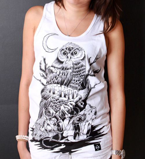 Predator and Prey white tank - product images  of