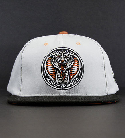 Mayhem,Engineers,Orange,Snapback,Hat, Snapback, Snake, Tiger, Mayhem, Engineers, Orange