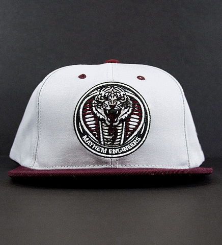Mayhem,Engineers,Maroon,Snapback,Hat, Snapback, Snake, Tiger, Mayhem, Engineers, Maroon