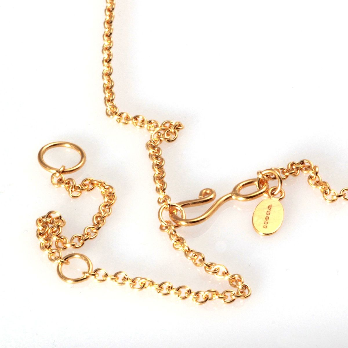 Gold Vermeil Screwcap Pendant on Chain - product images  of