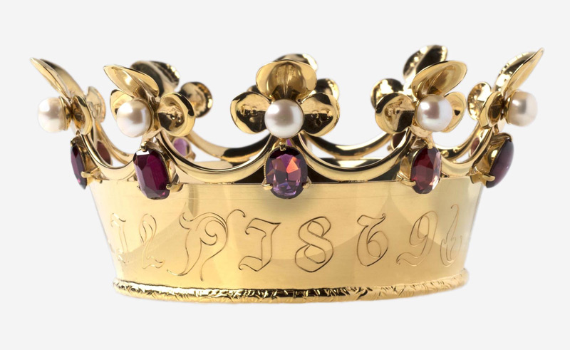 The Mathildis Coronet by Anastasia Young for The Lily Holds Firm