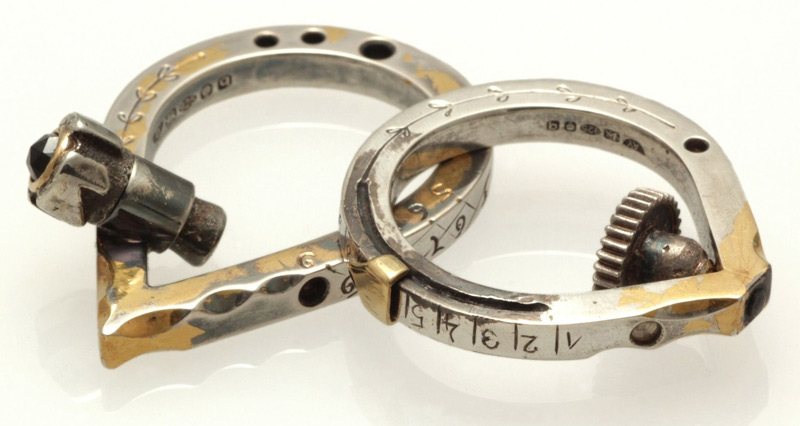 Measuring Device Rings by Anastasia Young Jewellery