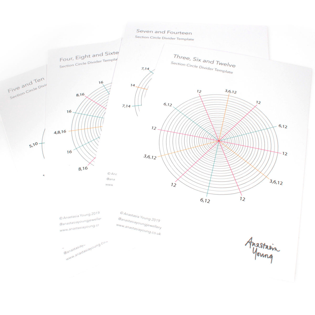 Circle Divider Template Cards - product images  of