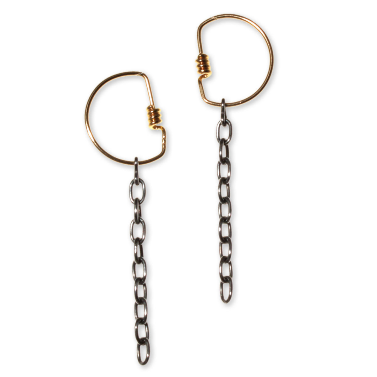 Chain.coil Hoop Earrings - product image