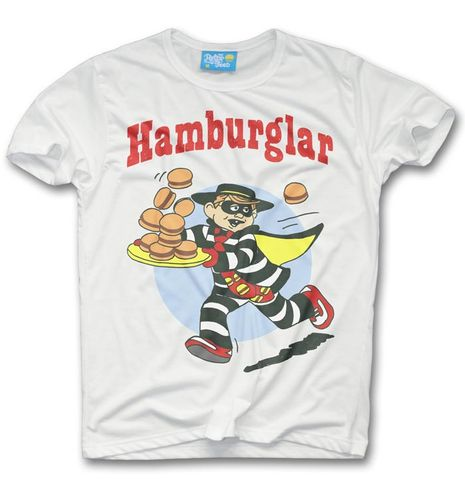 Hamburglar,T-shirt,-,McDonalds,inspired,McDonalds burger king fast food maccy Ds burger big mac retro junk food t shirt