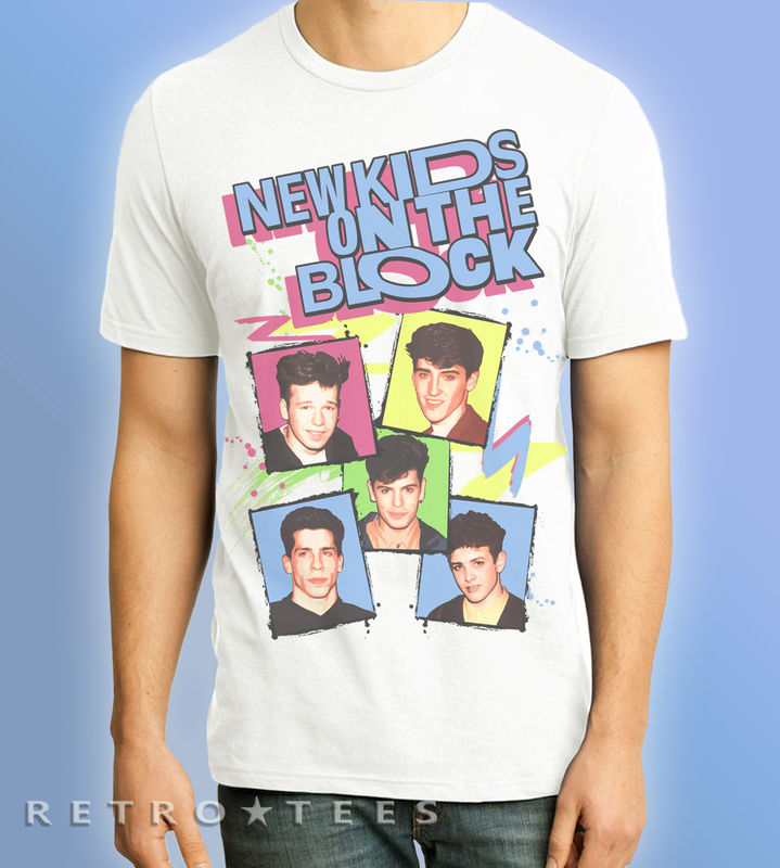 Men's NEW KIDS ON THE BLOCK T-Shirt *NKOTB* - Vintage White  - product images  of