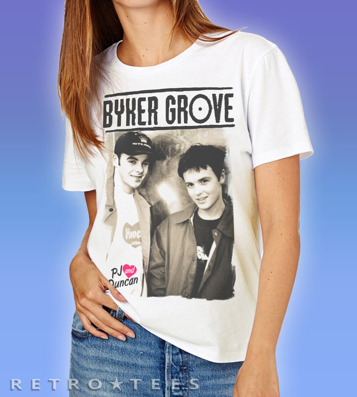 Ladies Byker Grove PJ And Duncan Poster T-shirt *Now Also Available In Boyfriend Fit* - product images  of