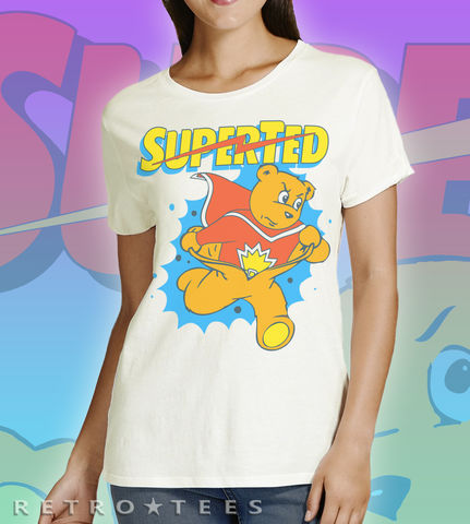 SuperTed,Hero,T-shirt,super ted cartoon spotty texas pete retro cartoon T-shirt