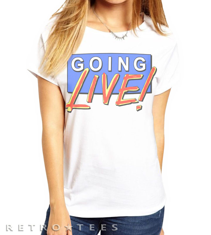 Ladies Going Live Logo T-shirt *Now also available in Boyfriend Fit*  - product images  of