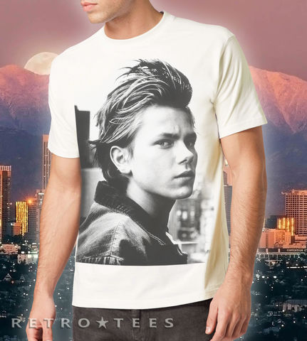 MEN'S,River,Phoenix,T-shirt,-,VINTAGE,WHITE,River Phoenix 80s retro t-shirt movie film fan gift