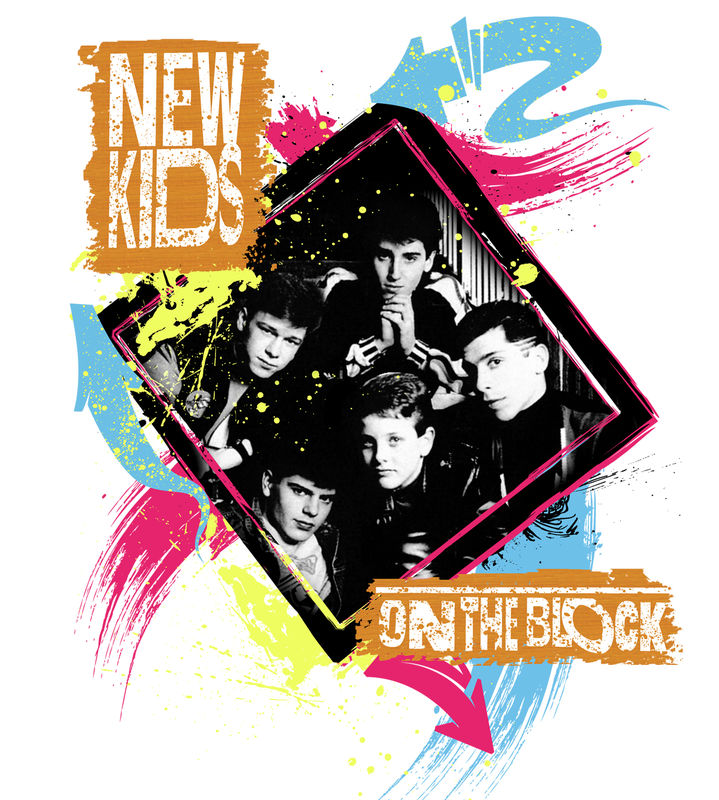 Men's NEW KIDS ON THE BLOCK T-Shirt - Vintage White  - product images  of