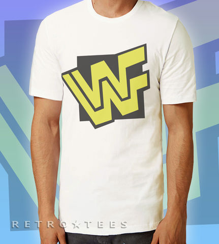 MEN'S,WWF,Logo,T-shirt,-,VINTAGE,WHITE,Ultimate Warrior WWF Wrestling TV Retro 80s retro t-shirt movie film Fan Gift