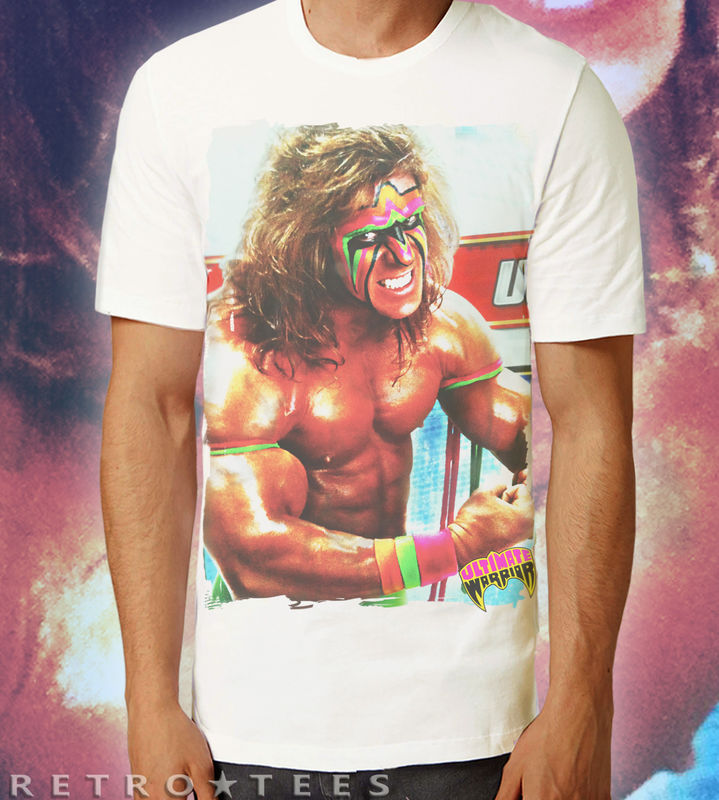MEN'S WWF ULTIMATE WARRIOR Poster T-shirt - Retro Tees - product images  of