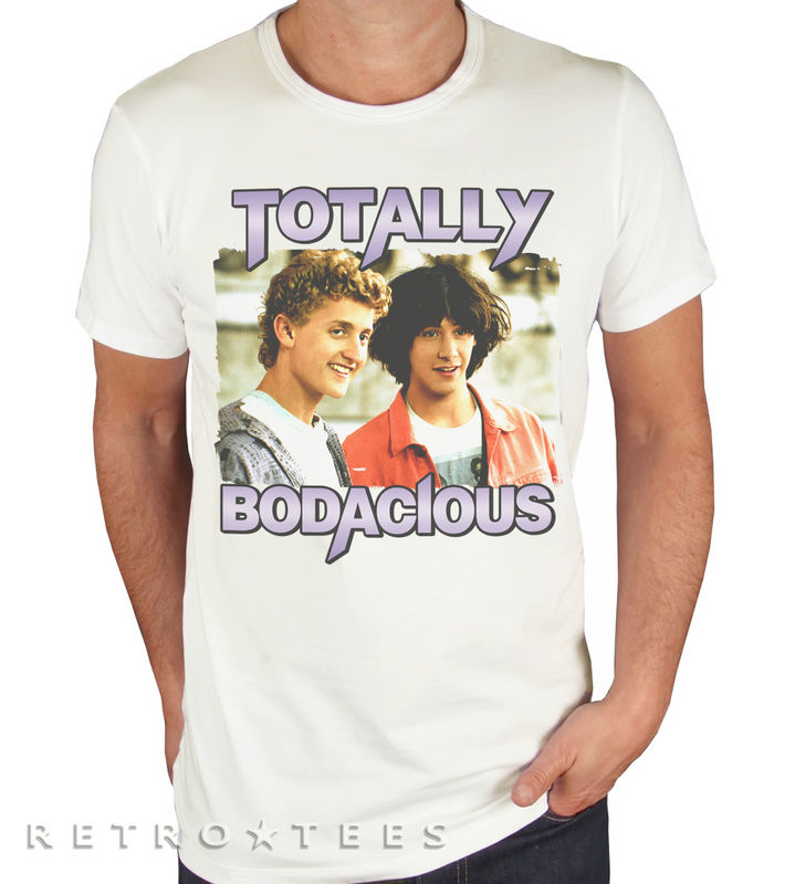 MEN'S Bill and Ted's Excellent Adventure - Totally Bodacious Slogan T-shirt  - product images  of