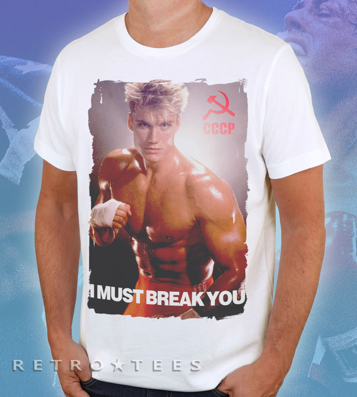 MEN'S Classic IVAN DRAGO 'I Must Break You' T-shirt - VINTAGE WHITE - product images  of