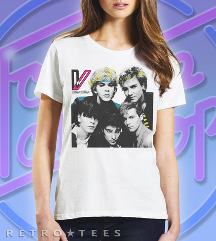 DURAN,T-shirt,-,80s,Wild,Boys,Ladies,Duran Duran T-shirt wild Boys 80s music Fan