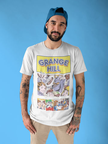 Men's,GRANGE,HILL,T-Shirt,-,Vintage,White,70s    80s TV   grange hill   tucker Jenkins  sausage  retro fan t-shirt     just say no