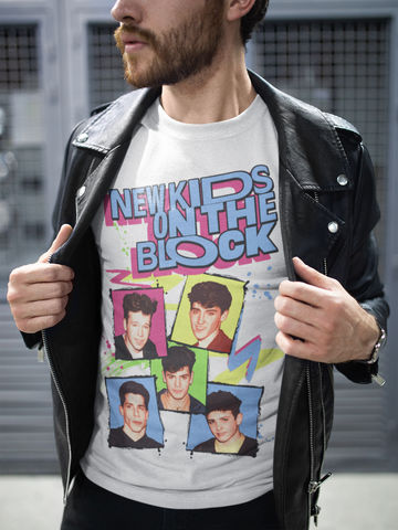 Men's,NEW,KIDS,ON,THE,BLOCK,T-Shirt,*NKOTB*,-,Vintage,White,New Kids On The Block NKOTB Jordan knight Donnie Wahlberg Mark Wahlberg Joey McIntyre Marky Mark Hangin' Tough retro t-shirt