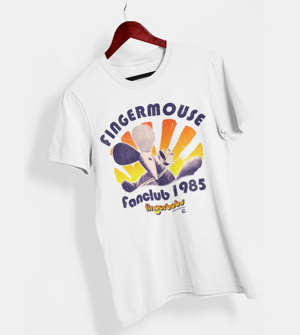 Fingermouse,Fanclub,T-shirt,-,Ladies,christmas gift fingermouse fingerbobs retro yoffy puppet finger fan club t shirt