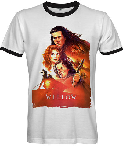 WILLOW,Movie,Poster,T-shirt,-,Men's,willow fantasy Retro 80s Fan t-shirt cult movie film Warwick Davis Val Kilmer