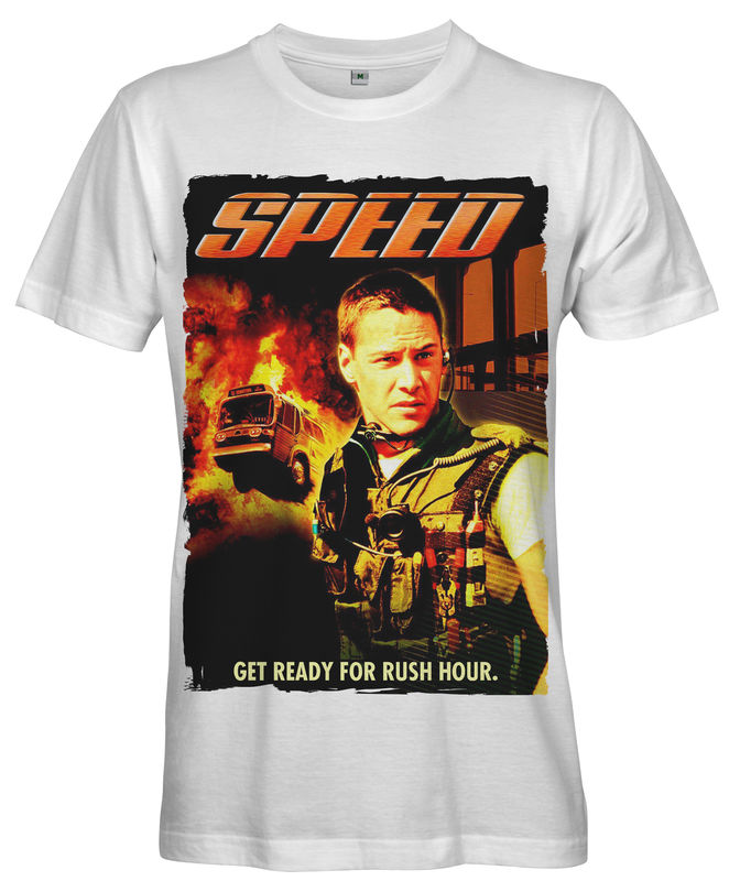 Keanu Reeves SPEED Movie Poster T-shirt - Ladies - product images  of